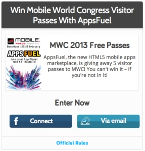 Win a free pass to MWC 2013 with AppsFuel!